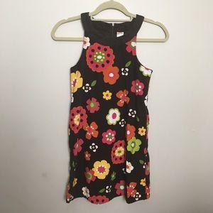 Gymboree girls floral corduroy dress